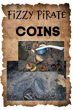 Make fizzy baking soda rocks and hide pirate coins inside. Fun pirate science experiments for kids #pirates #pirateparty #piratescience #piratepartyideas #piratesforkids