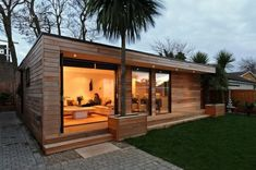 Luxury Prefab Backyard Guest House 45 For Furniture Home Design Ideas with Prefab Backyard Guest House Backyard Guest Houses, Backyard Studio, Garden Studio, Container House Design, Small House Design, Bungalows, Casas Containers, Tiny House Cabin, Prefab Guest House