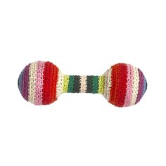 Discover the Anne-Claire Petit Crochet Baby Rattle - Mix Stripe at Amara