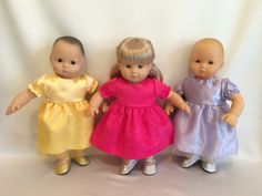 "15"" Doll Princess Dresses for American Girl Bitty Baby Dolls"