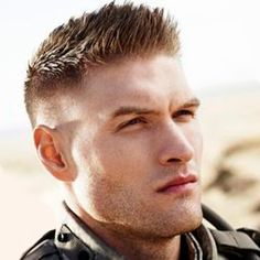 Undercut haircut in military style