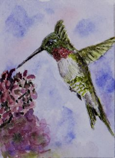 Spring is Here-Original ACEO by Barry Jones