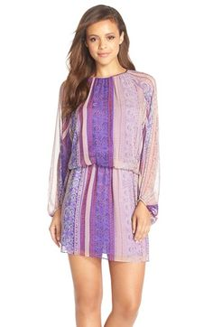Charlie+Jade+Scarf+Print+Silk+Blouson+Dress+available+at+#Nordstrom