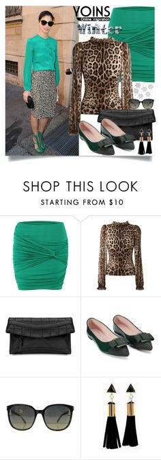 """Yoins:Twist Front Pencil Mini Skirt"" by yoinscollection on Polyvore featuring Dolce&Gabbana and Marc Jacobs"