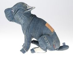 Recycled Denim Crafts | ... jeans you'll be inspired to see these cute recycled denim Dogs by Cram