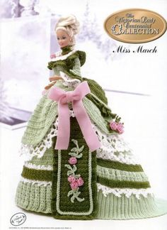 Miss March Victorian Lady Centennial Collection Dress for Barbie Crochet Pattern