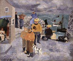 Christopher Wood - Cornish Fishermen, the Quay, St Ives (1928)
