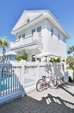 fr@ loves this📌🌟Private Homes Vacation Rental - VRBO 169531 - 6 BR Rosemary Beach House in FL, Gulf-Front/Heat-Prvt-Pool/Elev/Wifi/Bahama Mama Banana Cabana Beach Cottage Style, Coastal Cottage, Coastal Homes, Cottage Homes, Beach House Decor, Coastal Living, Beach Homes, Cottages By The Sea, Beach Cottages