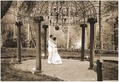 The bride and groom enjoy a quiet moment