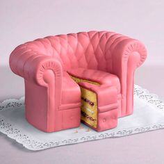 Pink Sofa Chair Cake Wallpaper from Cakes. Crazy Cakes, Fancy Cakes, Cute Cakes, Pretty Cakes, Beautiful Cakes, Amazing Cakes, Girly Cakes, Pink Cakes, Take The Cake