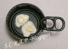 ~ S.C.R.A.P. ~ Scraps Creatively Reused and Recycled Art Projects: Cast Iron-Fried Egg Milk Cap Magnet