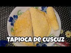 A tapioca de cuscuz é um lanche de preparo fácil, mas muito saboroso. O flocão de milho determina o gosto da massa, que pode ser recheada a gosto. Confira! Vinager, The Creator, Low Carb, Stuffed Peppers, Vegan, Ethnic Recipes, Food, Youtube, Cornflake Recipes