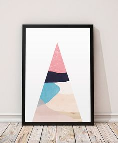 Minimalist abstract art Geometric print by ShopTempsModernes