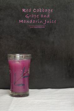 Red Cabbage Grape and Mandarin Juice masalaherb.com