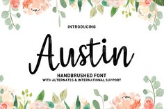 Austin Script by Typehill available for $4.00 at FontBundles.net