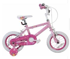 Princess 12 Inch Girls Bike Childrens Inside Leg Bicycle Baby Pink Stabilisers
