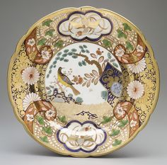 J. Spode | Plate with rocks, flowers, and birds | British, Stoke-on-Trent, Staffordshire | The Metropolitan Museum of Art