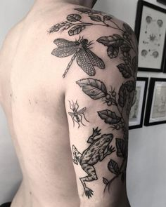 Nature tattoo sleeve botanical drawings 18 Trendy ideas - Nature tattoo sleeve botanical drawings 18 Trendy ideas Best Picture For dragon tattoo For Your T - Baby Tattoos, Time Tattoos, Body Art Tattoos, Cool Tattoos, Finger Tattoos, Tatoos, Bug Tattoo, Insect Tattoo, Dragonfly Tattoo