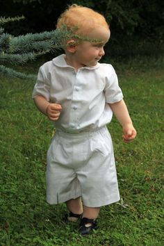 Ready-to-wear - Page boy French shorts for babies and toddlers - Little Eglantine