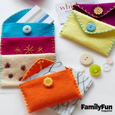 Cozy Card Holders: These easy-to-sew wallets can be used to present a gift card.