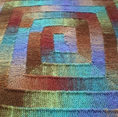 "Ten Stitch Blanket - Free Pattern/This blanket can be knitted in the yarn and needles of your choice and is a great way of using up odds and ends. My original blanket was knitted in Noro Kureyon on 5.5mm / US size 9 needles. I used 14 balls of wool and the blanket measures about 107 x 122 cm / 42 x 48"". This blanket was inspired by Elizabeth Zimmermann's baby blanket in The Opinionated Knitter which is made up of wide L-shaped strips of garter stitch sewn together. I have used her technique…"
