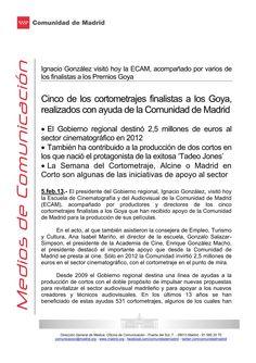 ignacio-gonzlez-05022013 by Ignacio González González via Slideshare  Visita a la ECAM, Escuela Cinematografía y del Audiovisual de la Comunidad de Madrid