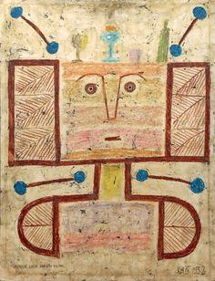 Victor Brauner (1903-1966)  Composition IV, 1952 Technique mixte sur papier marouflé sur carton. Monogrammé et daté en bas à droite. Dédicacé « pour Luce, son ami Victor » en bas à gauche. Rieunier & Associés - 15/04/2015