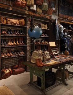 """""""KHAKI AND SURPLUS"""" instore Footwear Department, pinned by Ton van der Veer"""