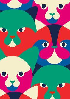 #minakani #cats #feline #pop #allover #pattern