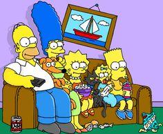 Os Simpsons...desenho no mural livre do gartic feito por 4leff