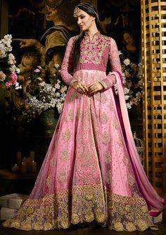 Exotic Carnation Pink Designer Anarkali Suit