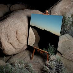 """""""The Edge Effect"""", photos by Daniel Kukla. These images were created with a mirror and a painter's easel, inside Joshua Tree National Park, where the Sonoran desert and the Mojave desert meet."""