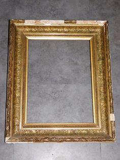 Grand miroir ancien en stuc dore sculpte 40 cmx 81cm antique ...