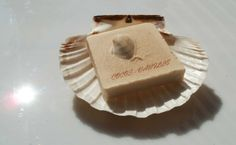 handmade soap for eczema with scent of cocos and vanilla