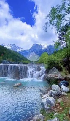 Beautiful Nature Scenes, Beautiful Photos Of Nature, Beautiful Nature Wallpaper, Amazing Nature, Beautiful Landscapes, 3d Nature Wallpaper, Waterfall Scenery, Waterfall Photo, Aesthetic Photography Nature