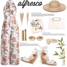 Easy Breezy: Alfresco Dining by the-geek-goddess on Polyvore featuring moda, Zimmermann, Apt. 9, New Look, Collection XIIX, MANGO and Stila