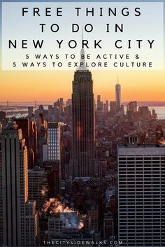 """NYC is expensive, but there are plenty of things to do around here that prove """"free"""" doesn't have to mean """"bad."""" Check out these free things to do in New York City that help you stay active and explore culture."""