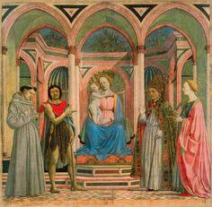 DOMENICO VENEZIANO Retablo de Santa Lucia dei Magnoli (1445) Galería de los Uffizi, Florencia.