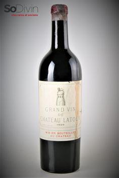Château Latour 1929, 1er Cru Classé de Pauillac. Le millésime 1929 fait partie des millésimes légendaires à Bordeaux Château Latour, Grand Cru, Wine Collection, Vintage Wine, In Vino Veritas, Wine And Spirits, Bordeaux, Red Wine, Alcoholic Drinks