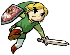 Link Dash Action - Characters & Art - The Legend of Zelda: The Wind Waker HD