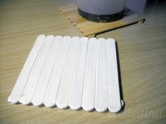 Coasters made from popsicle sticks