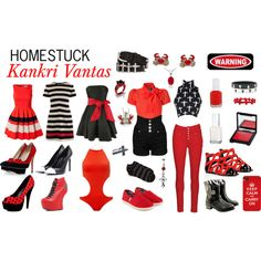 Homestuck Fashion: Kankri Vantas by khainsaw on Polyvore