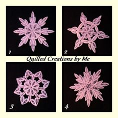 Quilled snowflakes made by Quilled Creations by Me