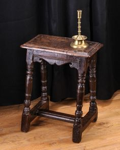 Joined oak stool, Taunton, circa 1630. Marhamchurch antiques