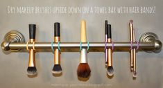 Brush Cleaning 101: How to clean your brushes.. and this neat little trick on how to dry them!