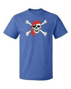 Pirate Skull Red Bandana Party Youth T-Shirt