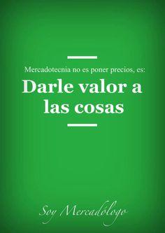 No establecemos precios, damos #valor a las cosas