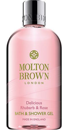 Molton Brown Rhubarb & Rose Bath & Shower Gel - can't get enough of this stuff! Need it in my life Dm Shampoo, Rose Bath, Molton Brown, Body Cleanser, Body Lotions, Shower Gel, Bath Shower, Body Wash, Along The Way
