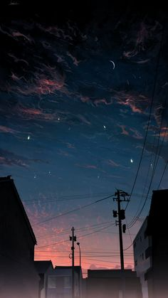 Wallpaper Pastel, Night Sky Wallpaper, Anime Scenery Wallpaper, Sunset Wallpaper, Aesthetic Pastel Wallpaper, Landscape Wallpaper, Aesthetic Backgrounds, Nature Wallpaper, Aesthetic Wallpapers