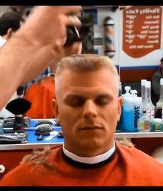 flattop haircut in progress